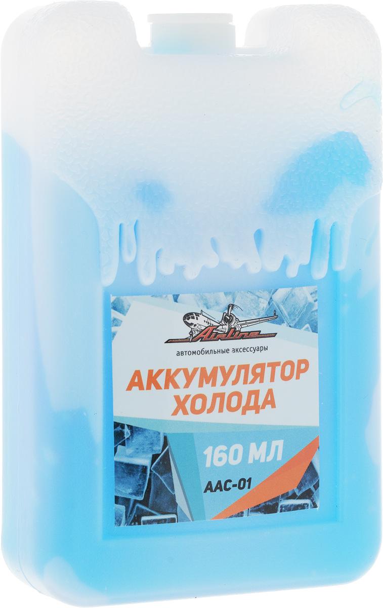 Аккумулятор холода Airline, 160 мл19199Аккумулятор холода Airline необходим для обеспечения низких температур в сумках-холодильниках. Перед эксплуатацией аккумулятор необходимо разместить в морозильную камеру на длительный период времени, варьирующийся от 10 до 12 часов. Изделие выполнено из прочного пластика и содержит экологичный карбоксиметилцеллюлозный раствор.Размер аккумулятора: 6,5 х 2,5 х 10,5 см.