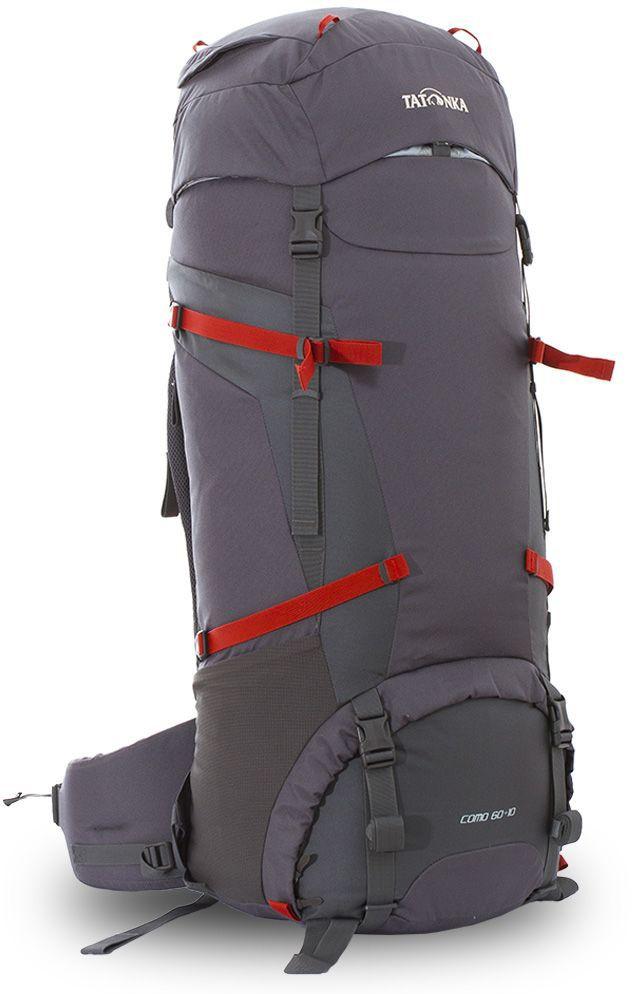 Рюкзак туристический Tatonka Como, цвет: серый, 70 лDI.6020.021Классический туристический рюкзак Tatonka Como выполнен в строгом дизайне из прочной ткани Textreme 6.6. Два просторных отделения позволит с удобством разместить все необходимые в походе или путешествии вещи. За счет объемной крышки и расширяющегося основного отделения объем рюкзака достигает 70 литров. Прочная удобная спинка рюкзака выполнена с учетом анатомических особенностей спины человека, благодаря этому с рюкзаком будет комфортно идти даже в продолжительном походе. Нижнее и основное отделения рюкзака разделены съемной перегородкой на молнии, одним движением их можно соединить между собой или снова разделить. Доступ в основное отделение осуществляется через верхний расширяющийся вход, а нижнее отделение оснащено молнией с двумя бегунками, благодаря чему можно получить доступ к конкретным нужным вещам, не открывая молнию полностью. Особенности:- Система подвески Y1.- Одно основное отделение, увеличивающееся в объеме в верхней части.- Объемная крышка рюкзака с крючком для ключей. - 4 петли на крышке. - Крышка рюкзака регулируется по высоте (до 25 см выше стандартного положения).- Затяжка внутреннего отделения на один или два шнура, в зависимости от объема заполнения. - 4 боковые затяжки позволяют регулировать объем.- Петли для крепления треккинговых палок.- Два боковых просторных кармана.- Широкий плотный набедренный пояс с двумя параметрами регулировки (по ширине и степени прилегания к рюкзаку).- Регулировка спины рюкзака позволяет отрегулировать высоту и натяжение лямок относительно спины рюкзака.- Спинка рюкзака выполнена с учетом анатомических особенностей спины человека.- Сетчатые элементы в спине и набедренном поясе обеспечивают вентиляцию в жаркую погоду.- Регулируемый по ширине и высоте нагрудный ремень.- В нагрудный ремень вшита резинка для комфорта движения.- Прочная ручка для переноски и помощи при надевании рюкзака.- Молния в нижнее отделение оснащена двумя бегунками.- Перегородка между о