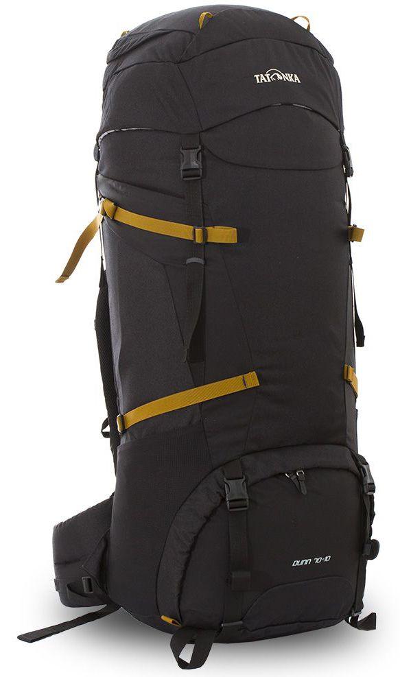 Рюкзак туристический Tatonka Dunn, цвет: черный, 80 л67742Классический туристический рюкзак Tatonka Dunn выполнен в строгом дизайне из прочной ткани Textreme 6.6. Два просторных отделения позволит с удобством разместить все необходимые в походе или путешествии вещи. За счет объемной крышки и расширяющегося основного отделения объем рюкзака достигает 80 литров. Прочная удобная спинка рюкзака выполнена с учетом анатомических особенностей спины человека, благодаря этому с рюкзаком будет комфортно идти даже в продолжительном походе. Нижнее и основное отделения рюкзака разделены съемной перегородкой на молнии, одним движением их можно соединить между собой или снова разделить. Доступ в основное отделение осуществляется через верхний расширяющийся вход, а нижнее отделение оснащено молнией с двумя бегунками, благодаря чему можно получить доступ к конкретным нужным вещам, не открывая молнию полностью. Особенности:- Система подвески Y1.- Одно основное отделение, увеличивающееся в объеме в верхней части.- Объемная крышка рюкзака с крючком для ключей. - 4 петли на крышке. - Крышка рюкзака регулируется по высоте (до 25 см выше стандартного положения).- Затяжка внутреннего отделения на один или два шнура, в зависимости от объема заполнения. - 4 боковые затяжки позволяют регулировать объем.- Петли для крепления треккинговых палок.- Два боковых просторных кармана.- Широкий плотный набедренный пояс с двумя параметрами регулировки (по ширине и степени прилегания к рюкзаку).- Регулировка спины рюкзака позволяет отрегулировать высоту и натяжение лямок относительно спины рюкзака.- Спинка рюкзака выполнена с учетом анатомических особенностей спины человека.- Сетчатые элементы в спине и набедренном поясе обеспечивают вентиляцию в жаркую погоду.- Регулируемый по ширине и высоте нагрудный ремень.- В нагрудный ремень вшита резинка для комфорта движения.- Прочная ручка для переноски и помощи при надевании рюкзака.- Молния в нижнее отделение оснащена двумя бегунками.- Перегородка между отделе