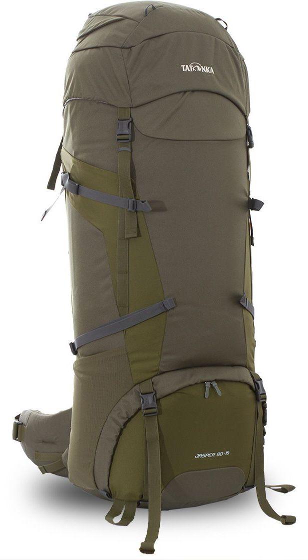 Рюкзак туристический Tatonka Jasper, цвет: зеленый, 105 л67742Классический туристический рюкзак Tatonka Jasper выполнен в строгом дизайне из прочной ткани Textreme 6.6. Два просторных отделения позволит с удобством разместить все необходимые в походе или путешествии вещи. За счет объемной крышки и расширяющегося основного отделения объем рюкзака достигает 70 литров. Прочная удобная спинка рюкзака выполнена с учетом анатомических особенностей спины человека, благодаря этому с рюкзаком будет комфортно идти даже в продолжительном походе. Нижнее и основное отделения рюкзака разделены съемной перегородкой на молнии, одним движением их можно соединить между собой или снова разделить. Доступ в основное отделение осуществляется через верхний расширяющийся вход, а нижнее отделение оснащено молнией с двумя бегунками, благодаря чему можно получить доступ к конкретным нужным вещам, не открывая молнию полностью. Особенности:- Система подвески Y1.- Одно основное отделение, увеличивающееся в объеме в верхней части.- Объемная крышка рюкзака с крючком для ключей. - 4 петли на крышке. - Крышка рюкзака регулируется по высоте (до 25 см выше стандартного положения).- Затяжка внутреннего отделения на один или два шнура, в зависимости от объема заполнения. - 4 боковые затяжки позволяют регулировать объем.- Петли для крепления треккинговых палок.- Два боковых просторных кармана.- Широкий плотный набедренный пояс с двумя параметрами регулировки (по ширине и степени прилегания к рюкзаку).- Регулировка спины рюкзака позволяет отрегулировать высоту и натяжение лямок относительно спины рюкзака.- Спинка рюкзака выполнена с учетом анатомических особенностей спины человека.- Сетчатые элементы в спине и набедренном поясе обеспечивают вентиляцию в жаркую погоду.- Регулируемый по ширине и высоте нагрудный ремень.- В нагрудный ремень вшита резинка для комфорта движения.- Прочная ручка для переноски и помощи при надевании рюкзака.- Молния в нижнее отделение оснащена двумя бегунками.- Перегородка между 