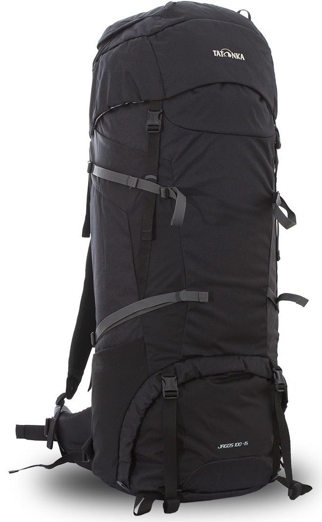 Рюкзак туристический Tatonka Jagos, цвет: черный, 115 лDI.6038.040Классический туристический рюкзак Tatonka Jagos выполнен в строгом дизайне из прочной ткани Textreme 6.6. Два просторных отделения позволит с удобством разместить все необходимые в походе или путешествии вещи. За счет объемной крышки и расширяющегося основного отделения объем рюкзака достигает 115 литров. Прочная удобная спинка рюкзака выполнена с учетом анатомических особенностей спины человека, благодаря этому с рюкзаком будет комфортно идти даже в продолжительном походе. Нижнее и основное отделения рюкзака разделены съемной перегородкой на молнии, одним движением их можно соединить между собой или снова разделить. Доступ в основное отделение осуществляется через верхний расширяющийся вход, а нижнее отделение оснащено молнией с двумя бегунками, благодаря чему можно получить доступ к конкретным нужным вещам, не открывая молнию полностью. Особенности:- Система подвески Y1.- Одно основное отделение, увеличивающееся в объеме в верхней части.- Объемная крышка рюкзака с крючком для ключей. - 4 петли на крышке. - Крышка рюкзака регулируется по высоте (до 25 см выше стандартного положения).- Затяжка внутреннего отделения на один или два шнура, в зависимости от объема заполнения. - 4 боковые затяжки позволяют регулировать объем.- Петли для крепления треккинговых палок.- Два боковых просторных кармана.- Широкий плотный набедренный пояс с двумя параметрами регулировки (по ширине и степени прилегания к рюкзаку).- Регулировка спины рюкзака позволяет отрегулировать высоту и натяжение лямок относительно спины рюкзака.- Спинка рюкзака выполнена с учетом анатомических особенностей спины человека.- Сетчатые элементы в спине и набедренном поясе обеспечивают вентиляцию в жаркую погоду.- Регулируемый по ширине и высоте нагрудный ремень.- В нагрудный ремень вшита резинка для комфорта движения.- Прочная ручка для переноски и помощи при надевании рюкзака.- Молния в нижнее отделение оснащена двумя бегунками.- Перегородка ме