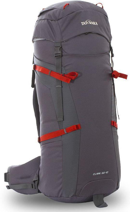 Рюкзак туристический Tatonka Clark, цвет: серый, 70 л67742Классический туристический рюкзак Tatonka Clark выполнен из прочной ткани Textreme 6.6. Одно просторное отделение позволит с удобством разместить все необходимые в походе или путешествии вещи. За счет объемной крышки и расширяющегося основного отделения объем рюкзака достигает 70 литров. Прочная удобная спинка рюкзака выполнена с учетом анатомических особенностей спины человека, благодаря этому с рюкзаком будет комфортно идти даже в продолжительном походе. Особенности: - Система подвески Y1. - Одно основное отделение, увеличивающееся в объеме в верхней части. - Объемная крышка рюкзака с крючком для ключей. - 4 петли на крышке. - Крышка рюкзака регулируется по высоте (до 25 см выше стандартного положения). - Затяжка внутреннего отделения на один или два шнура, в зависимости от объема заполнения. - 4 боковые затяжки позволяют регулировать объем.- Петли для крепления треккинговых палок. - Два боковых просторных кармана. - Широкий плотный набедренный пояс с двумя параметрами регулировки (по ширине и степени прилегания к рюкзаку). - Регулировка спины рюкзака позволяет отрегулировать высоту и натяжение лямок относительно спины рюкзака. - Спинка рюкзака выполнена с учетом анатомических особенностей спины человека. - Сетчатые элементы в спине и набедренном поясе обеспечивают вентиляцию в жаркую погоду. - Регулируемый по ширине и высоте нагрудный ремень.- В нагрудный ремень вшита резинка для комфорта движения.- Прочная ручка для переноски и помощи при надевании рюкзака. - Молнии YKK.