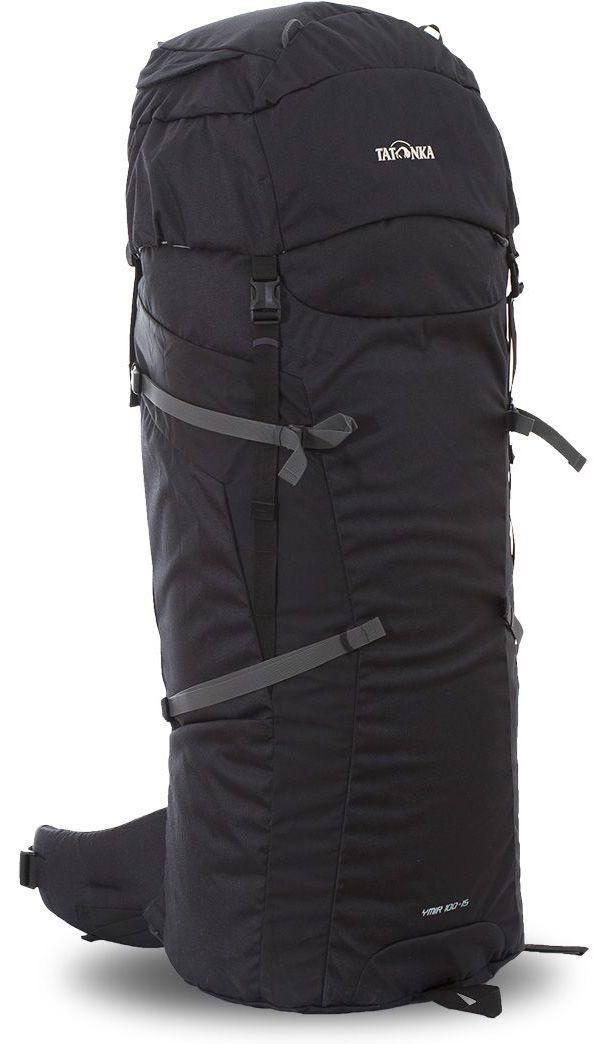 Рюкзак туристический Tatonka Ymir, цвет: черный, 115 л67742Классический туристический рюкзак Tatonka Ymir выполнен в строгом дизайне из прочной ткани Textreme 6.6. Два просторных отделения позволит с удобством разместить все необходимые в походе или путешествии вещи. За счет объемной крышки и расширяющегося основного отделения объем рюкзака достигает 105 литров. Прочная удобная спинка рюкзака выполнена с учетом анатомических особенностей спины человека, благодаря этому с рюкзаком будет комфортно идти даже в продолжительном походе. Особенности:- Система подвески Y1. - Одно основное отделение, увеличивающееся в верхней части. - Объемная крышка рюкзака с крючком для ключей.- 4 петли на крышке. - Крышка рюкзака регулируется по высоте (до 25 см выше стандартного положения). - Затяжка внутреннего отделения на один или два шнура, в зависимости от объема заполнения. - 4 боковые затяжки позволяют регулировать объем.- Петли для крепления трекинговых палок. - Два боковых просторных кармана. - Широкий плотный набедренный пояс с двумя параметрами регулировки (по ширине и степени прилегания к рюкзаку).- Спинка рюкзака выполнена с учетом анатомических особенностей спины человека. - Сетчатые элементы в спине и набедренном поясе обеспечивают вентиляцию в жаркую погоду. - Регулируемый по ширине и высоте нагрудный ремень. - В нагрудный ремень вшита резинка для комфорта движения.- Прочная ручка для переноски и помощи при надевании рюкзака. - Молнии YKK.