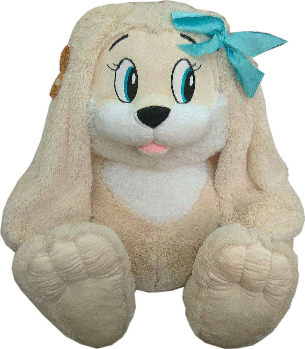 СмолТойс Мягкая игрушка Зайчик цвет молочный 45 см