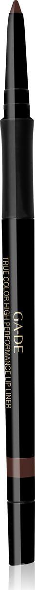 Ga-de Карандаш для губ True Color № 07, 0,35 грMFM-3101Водостойкий контурный карандаш для губ. Мягкая кремовая текстура предотвращает смазывание и растекание помады в течении дня. Не меняет свой цвет и не тускнеет, подчеркивает естественную форму губ. Формула, обогащенная комплексом керамидов и гиалуроновой кислотой обеспечивает чувственный уход занежной кожей губ. Не требует затачивания.