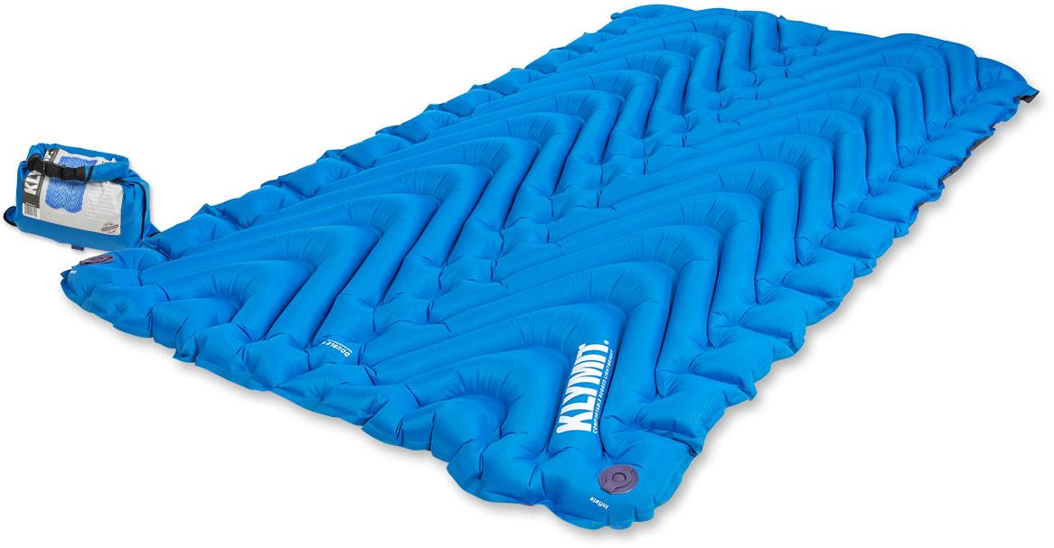 Надувной коврик Klymit Static V Double Blue, цвет: синий - Подушки, пледы, коврики