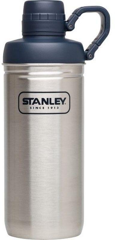 Бутылка для воды Stanley Adventure, цвет: стальной, 620 млKOC-H19-LEDБутылка для воды Stanley Adventure изготовлена из нержавеющей стали. Изделие оснащено интегрированным кольцом - держателем крышки. Сохраняет тепло 1 час, холод и напитки со льдом – 4 часа.Многоразовая бутылка пригодится в спортзале, на прогулке, дома, на даче. Объем: 620 мл. .