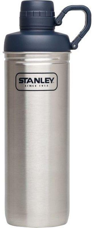 Бутылка для воды Stanley Adventure, 0,79 л, цвет: стальнойУТ000000388Бутылка для воды. Сохраняет холод - 1 час, напитки со льдом – 4 часа. Нержавеющая сталь. Интегрированное кольцо-держатель крышки. Цвет - Стальной. Гарантия пожизненная.