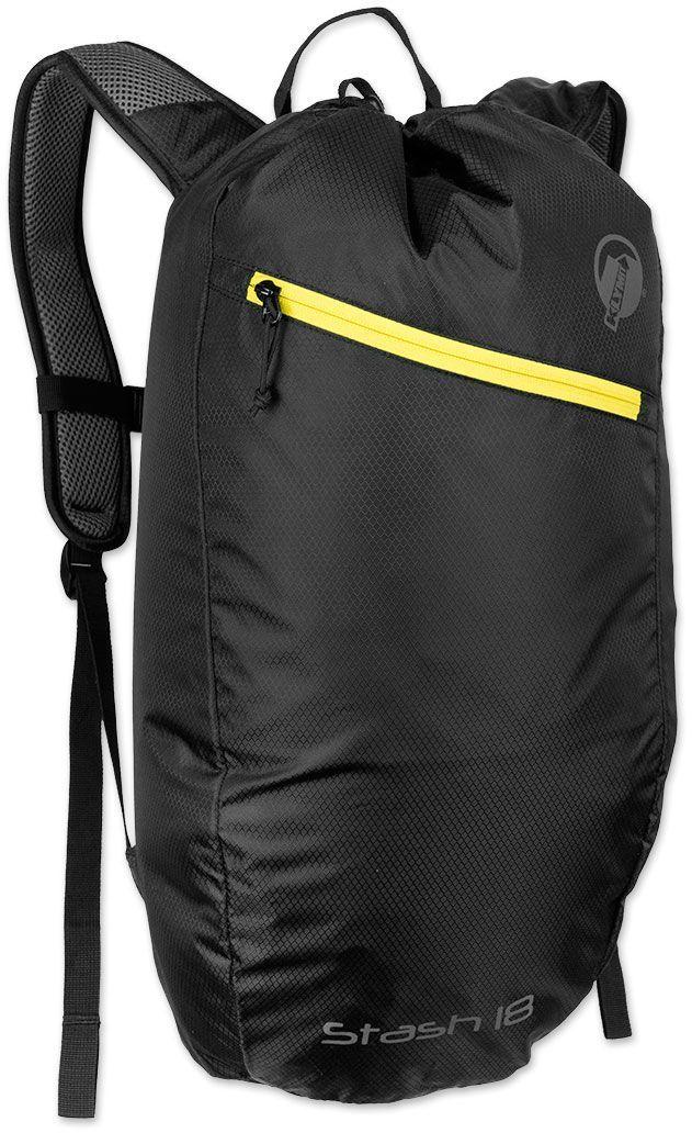 Туристический рюкзак Klymit Stash 18, цвет: черный, 18 л67742Технология Air Frame (воздушная рамка с сеткой для оптимального распределения воздуха). Объем – 18 литров; Вес – 350 гр; Материал –210D нейло; Нагрузка – 9 кг; Размер – 40X59 см; Цвет – черный. Пожизненная гарантия.