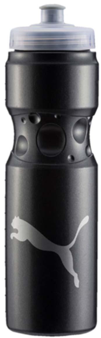 Бутылка для воды Puma Tr Bottle Sport, цвет: черный. 05314501. 750 млХот ШейперсЭргономичная бутылка для воды с закручивающейся крышкой и герметичным клапаном с делениями на корпусе – отличный спутник твоих тренировок. У модели герметичный клапан, деления на корпусе бутылки и логотип бренда.