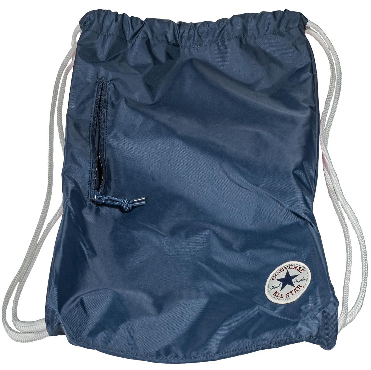 Рюкзак Converse, цвет: синий. 10003340410BM8434-58AEСпортивный рюкзак Converse выполнен из текстиля. Модель с одним отделением на затягивающемся шнурке и тонких лямках.