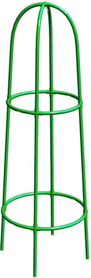 Опора для цветов Технохимпласт Конус, цвет: зеленый, высота 165 см531-401Каркас для придания формы кустарникам и декоративным растениям Технохимпласт Конус имеет высокий стебель. С помощью такой арки можно создать гармоничную среду, быстро озеленить и зонировать даже участки ограниченной площади. Материал изготовления - ПВХ, он устойчив к коррозии, экологически чистый). Опоры износостойкие, долговечные, не разрушаются под воздействием атмосферных факторов и агрессивных химических веществ. Устойчивы к перепадам температур.Легкие, компактные и удобные для хранения.Диаметр колец: 50 см; 40 см. Высота опоры: 165 см.