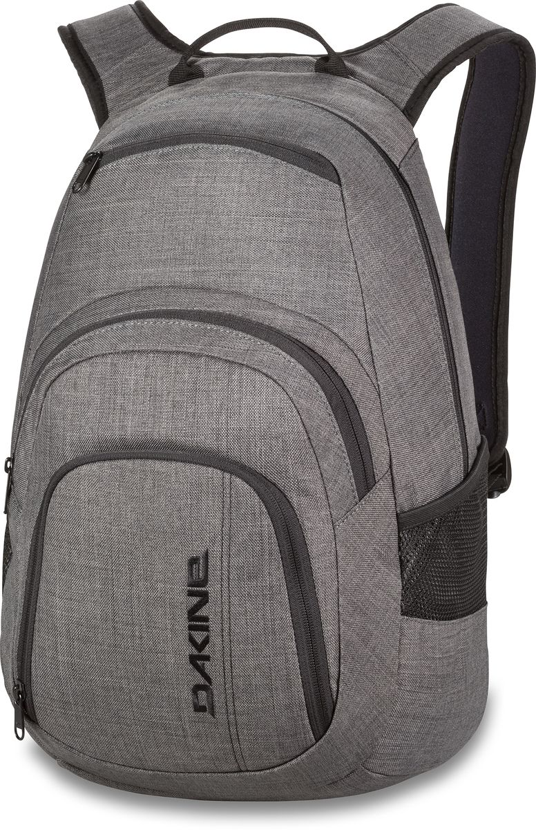 Рюкзак городской Dakine Campus, цвет: серый, 25 лBP-001 BKГородской рюкзак Dakine Campus выполнен из высококачественного полиэстера. Модель прекрасно подходит для активной жизни в городской черте.Особенности рюкзака: - есть специальный карман для ноутбука,- встроенный карман с термоизоляцией для еды и напитков,- карман-органайзер с отверстием для наушников, - флисовый карман для очков,- боковые карманы-сетки,- регулируемый нагрудный ремешок,- воздухопроницаемые наплечные ремни,- объемные складывающиеся карманы позволяют хранить отдельно вещи.