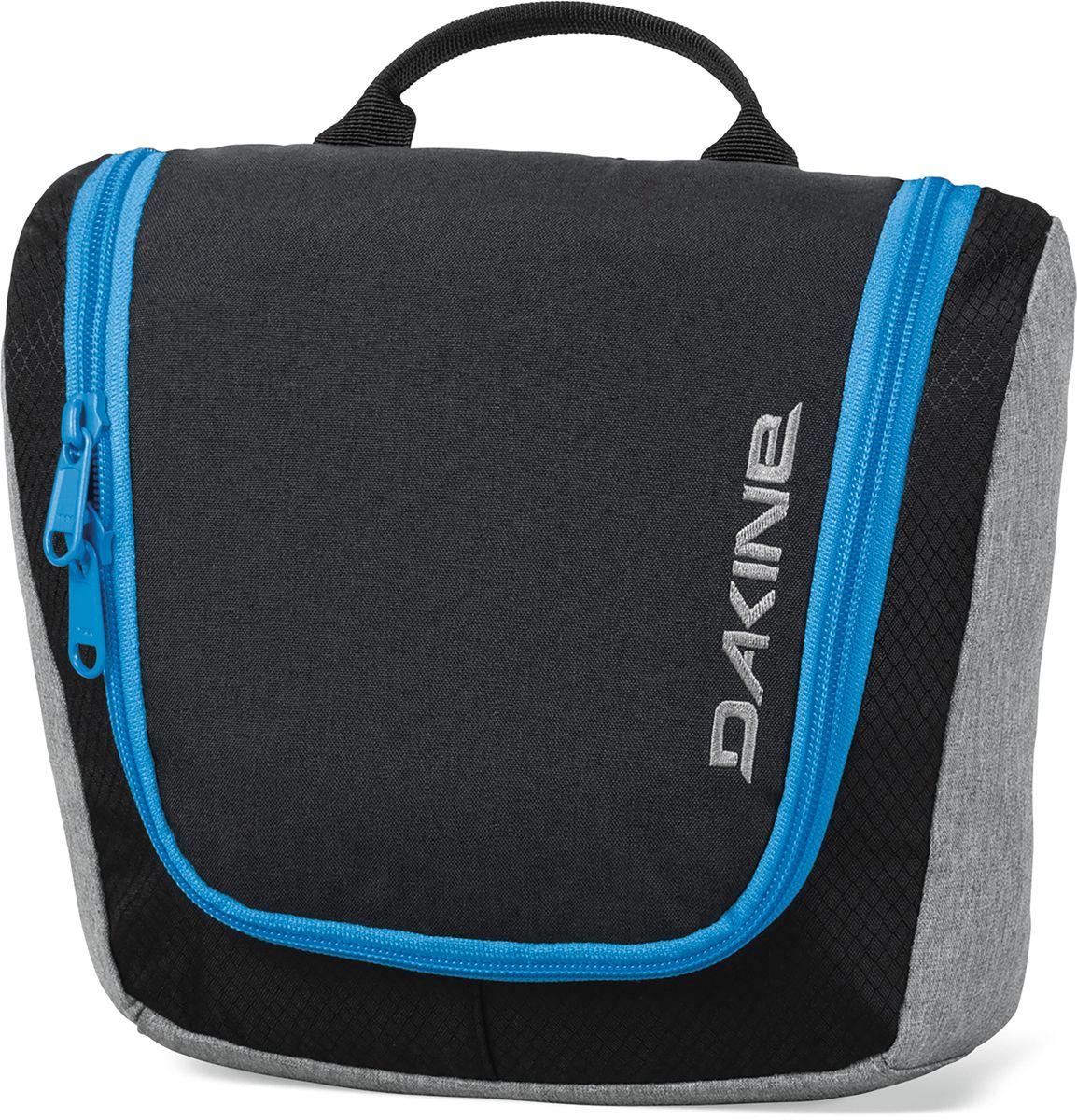 Косметичка дорожная Dakine Travel Kit, цвет: черный, синий, 3 л332515-2800Косметичка Dakine Travel Kit выполнена из полиэстера и застегивается на молнию. Модель может подвешиваться за крючок. Внутри отделение-органайзер.