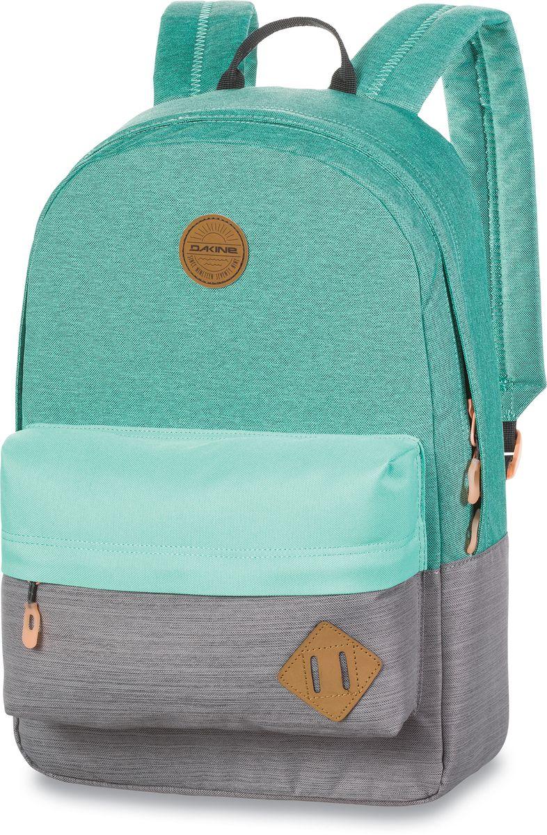 Рюкзак городской Dakine 365 Pack, цвет: мятный, серый, 21 л95940-905Городской рюкзак Dakine 365 Pack выполнен извысококачественного полиэстера, имеет вместительноеосновное отделение, в которое с легкостью помещаетсяпапка формата A4. В рюкзаке имеется встроенноеусиленное отделение для ноутбука и является отличнымвариантом для учебы и отдыха! Вместительный карманорганайзер с внутренним кармашком для телефона,фронтальный карман на молнии, два боковых кармана длянапитков или мелочей - максимальная функциональность.Идеально подходит для ежедневных прогулок иприключений.