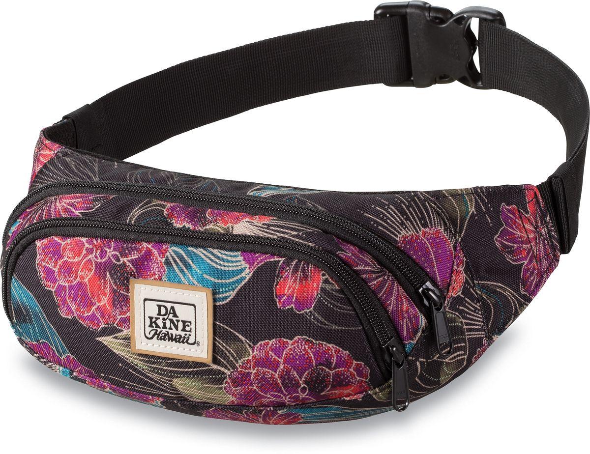 Сумка поясная женская Dakine Hip Pack Pualani, цвет: мультиколор, 0,6 л. 8210300ГризлиПоясная сумка с двумя отделениями. Регулируемый поясной ремень.