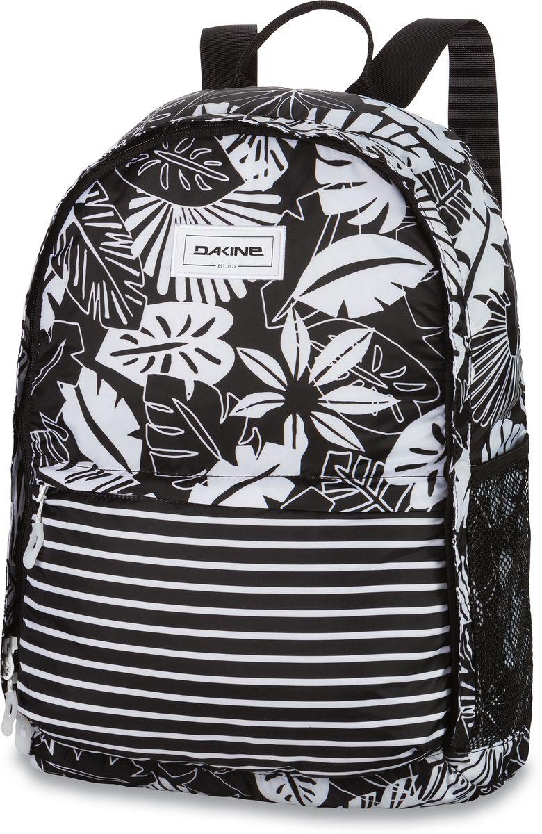 Рюкзак женский Dakine Stashable Backpack, цвет: белый, черный, 20 л00127342 8350471Удобный для транспортировки женский рюкзак Dakine Stashable Backpack выполнен из полиэстера и складывается в компактный чехол. Модель с одним отделением застегивается на молнию. Передняя стенка дополнена объемным карманом на молнии, боковые стороны - сетчатыми карманами. Широкие лямки регулируется по длине.