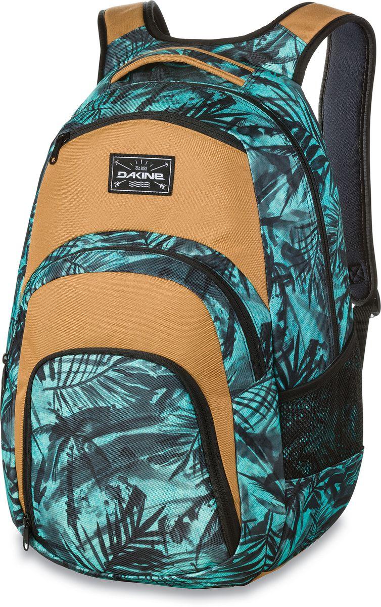 Рюкзак городской Dakine Campus, цвет: бирюзовый, черный, песочный, 33 л332515-2800Городской рюкзак Dakine Campus выполнен из высококачественного полиэстера. Модель прекрасно подходит для активной жизни в городской черте.Особенности рюкзака: - есть специальный карман для ноутбука,- встроенный карман с термоизоляцией для еды и напитков,- карман-органайзер с отверстием для наушников, - флисовый карман для очков,- боковые карманы-сетки,- регулируемый нагрудный ремешок,- воздухопроницаемые наплечные ремни,- объемные складывающиеся карманы позволяют хранить отдельно вещи.