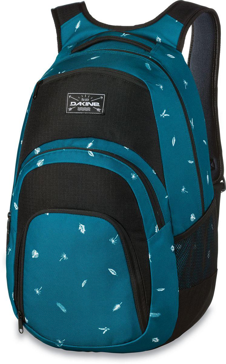 Рюкзак городской Dakine Campus, цвет: темно-бирюзовый, черный, 33 л00127029 8130057Городской рюкзак Dakine Campus выполнен из высококачественного полиэстера. Модель прекрасно подходит для активной жизни в городской черте.Особенности рюкзака: - есть специальный карман для ноутбука,- встроенный карман с термоизоляцией для еды и напитков,- карман-органайзер с отверстием для наушников, - флисовый карман для очков,- боковые карманы-сетки,- регулируемый нагрудный ремешок,- воздухопроницаемые наплечные ремни,- объемные складывающиеся карманы позволяют хранить отдельно вещи.