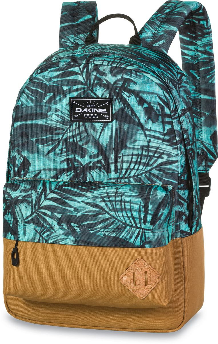 Рюкзак городской Dakine 365 Pack, цвет: бирюзовый, песочный, 21 л00127062 8130085Городской рюкзак Dakine 365 Pack выполнен извысококачественного полиэстера, имеет вместительноеосновное отделение, в которое с легкостью помещаетсяпапка формата A4. В рюкзаке имеется встроенноеусиленное отделение для ноутбука и является отличнымвариантом для учебы и отдыха! Вместительный карманорганайзер с внутренним кармашком для телефона,фронтальный карман на молнии, два боковых кармана длянапитков или мелочей - максимальная функциональность.Идеально подходит для ежедневных прогулок иприключений.