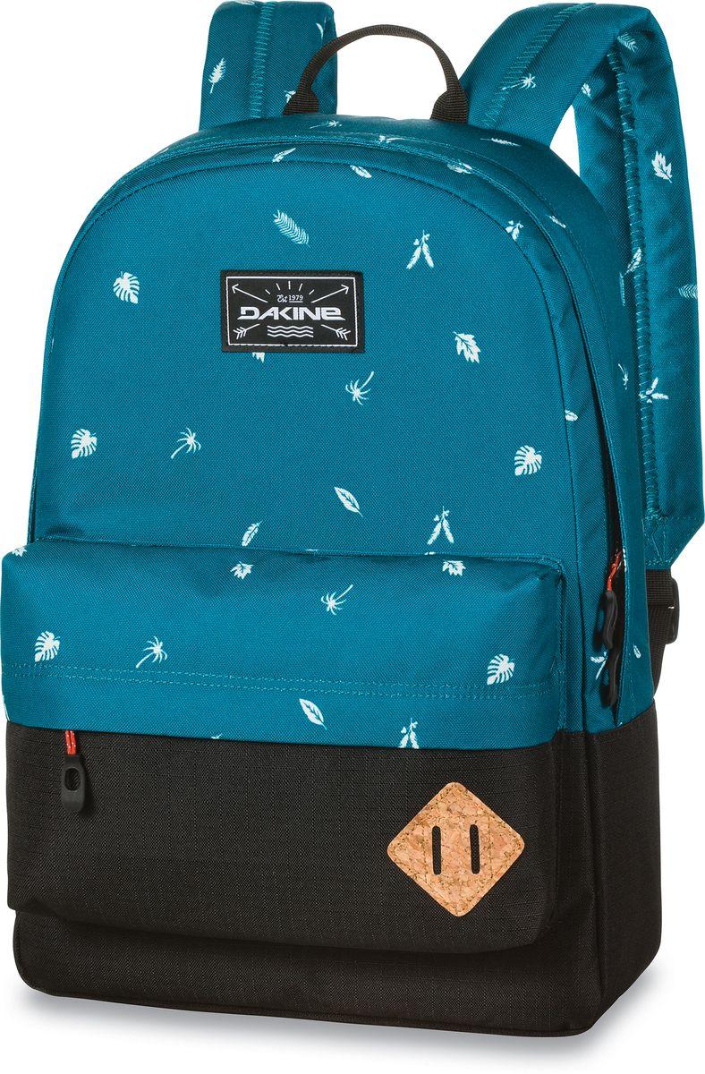 Рюкзак городской Dakine 365 Pack, цвет: бирюзовый, черный, 21 л00127059 8130085Городской рюкзак Dakine 365 Pack выполнен извысококачественного полиэстера, имеет вместительноеосновное отделение, в которое с легкостью помещаетсяпапка формата A4. В рюкзаке имеется встроенноеусиленное отделение для ноутбука и является отличнымвариантом для учебы и отдыха! Вместительный карманорганайзер с внутренним кармашком для телефона,фронтальный карман на молнии, два боковых кармана длянапитков или мелочей - максимальная функциональность.Идеально подходит для ежедневных прогулок иприключений.