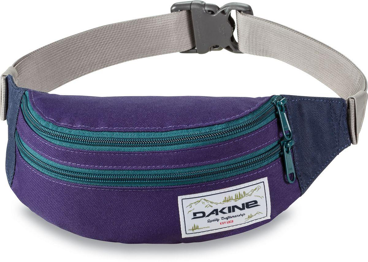 Сумка поясная Dakine  Classic Hip Pack , цвет: фиолетовый, бирюзовый, 0,6 л - Сумки на пояс / плечо
