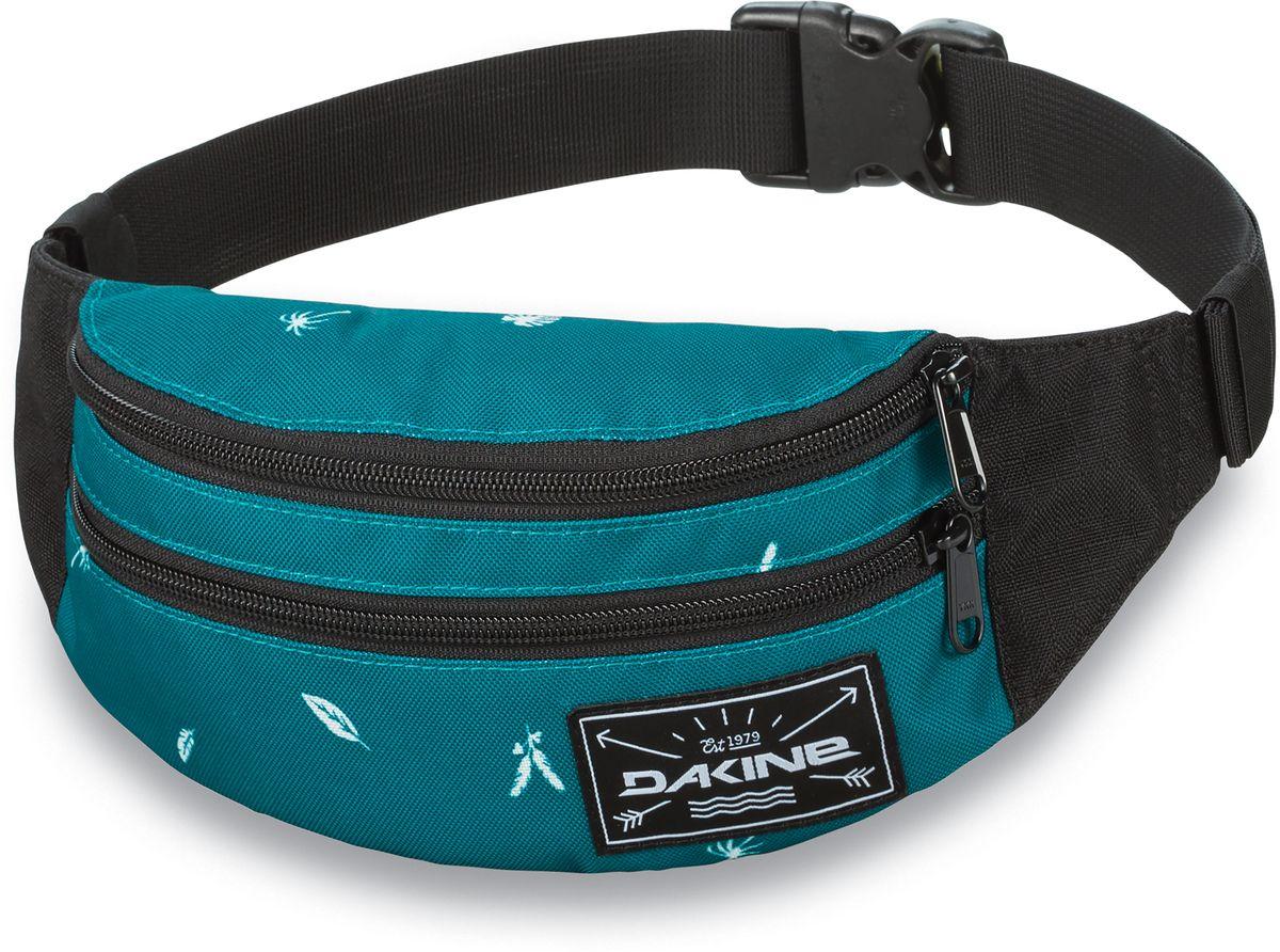 Сумка поясная Dakine  Classic Hip Pack , цвет: бирюзовый, черный, 0,6 л - Сумки на пояс / плечо
