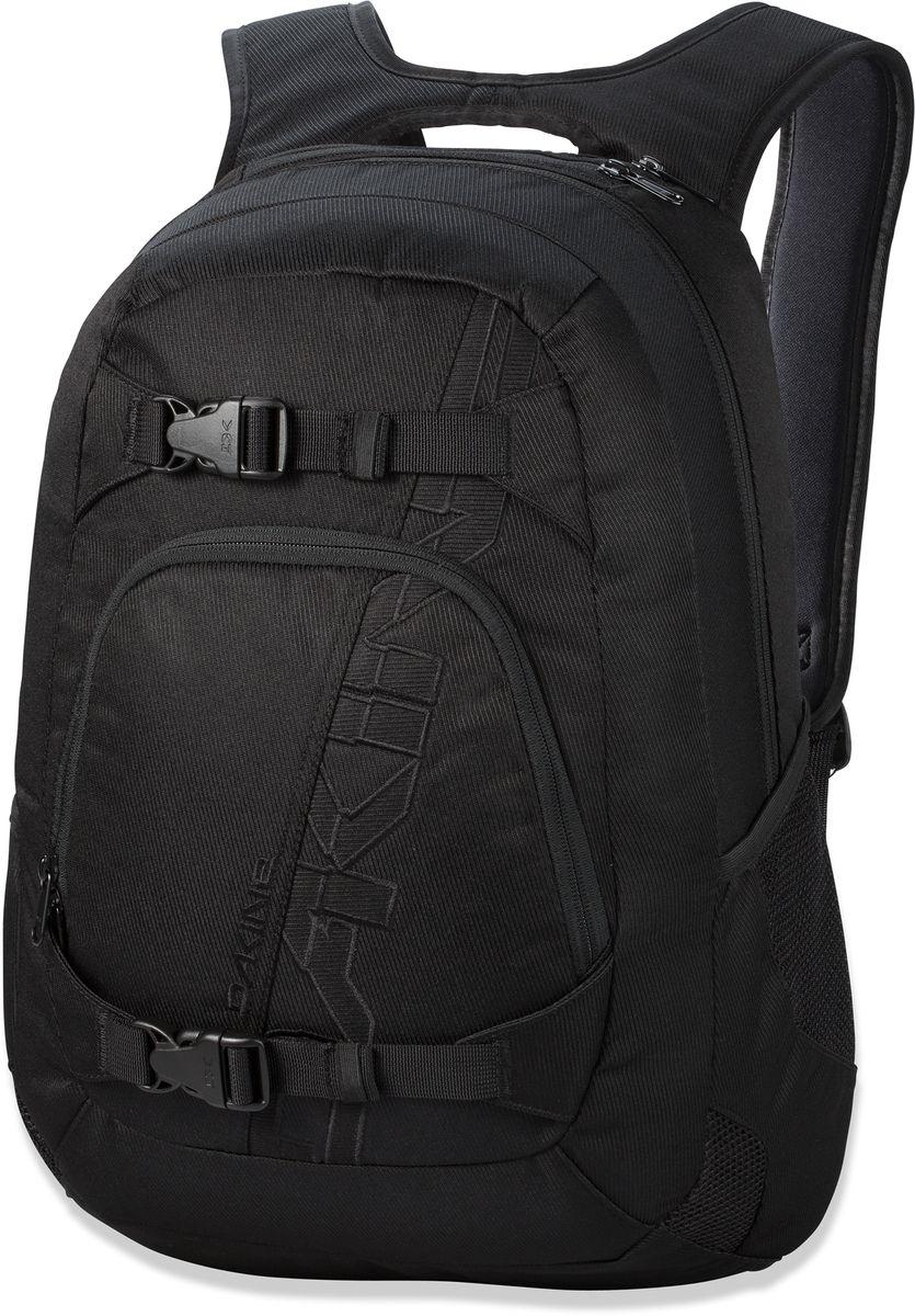 Рюкзак городской Dakine Explorer, цвет: черный, 26 лMABLSEH10001Рюкзак Dakine Explorer особенно ценится скейтерами за удобное крепление для доски ипрактическую износостойкость. Дизайн разработан с учетом потребностей людей, любящихпутешествовать. Выполнен из прочного полиэстера. Рюкзак имеет основное отделение назастежке-молнии с двумя бегунками. На лицевой части расположен карман на застежке-молнии с двумя бегунками. Сверху два небольших кармана, один из которых отделан внутрифлисом, в него можно положить очки. По бокам 2 сетчатых кармана.Особенности:Мягкое отделение для ноутбука до 15.Крепление для скейтборда.Флисовый карман для очков.Карман-органайзер.Боковые сетчатые карманы.Регулируемый нагрудный ремень.
