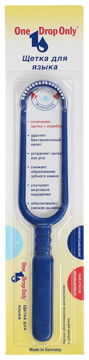 One Drop Only Щетка для удаления налета с языка, цвет: синий10-DAYOne Drop Only Щетка для удаления налета с языка, цвет: синий