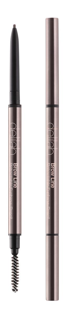 Delilah Карандаш для бровей тон Ash, 0,08 гр00001313Брови – очень важная часть лица, они обрамляют глаза и являются завершающим элементом, создающим впечатление ухоженности. Brow Line – это выдвижной карандаш, который очень просто использовать. Его тонкий кончик позволяет легко нарисовать четко очерченные, но естественного вида брови. Грифель карандаша довольной жесткий, поэтому линия получается мягкой и похожей на натуральные волоски. На другом конце находится встроенная щеточка, с которой идеальные брови - не проблема.