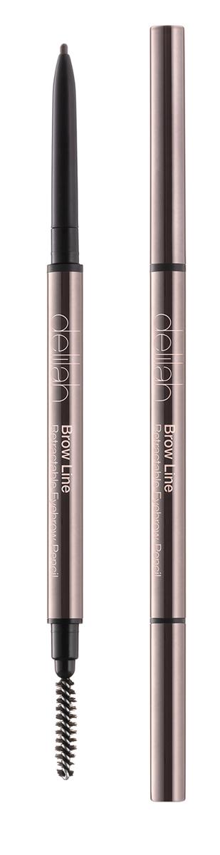 Delilah Карандаш для бровей тон Sable, 0,08 гр28032022Брови – очень важная часть лица, они обрамляют глаза и являются завершающим элементом, создающим впечатление ухоженности. Brow Line – это выдвижной карандаш, который очень просто использовать. Его тонкий кончик позволяет легко нарисовать четко очерченные, но естественного вида брови. Грифель карандаша довольной жесткий, поэтому линия получается мягкой и похожей на натуральные волоски. На другом конце находится встроенная щеточка, с которой идеальные брови - не проблема.