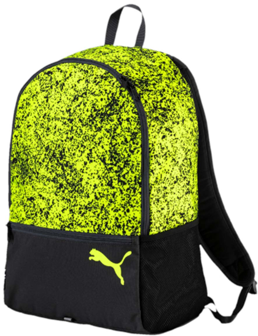 Рюкзак Puma Alpha Backpack, цвет: зеленый. 07443304BM8434-58AEРюкзак Pumaвыполнен из текстиля. Модель с одним отделением, спереди имеется карман на молнии, по боковым сторонам сетчатые карманы. Рюкзак оснащен регулируемыми по длине плечевыми лямками и петлей для подвешивания.