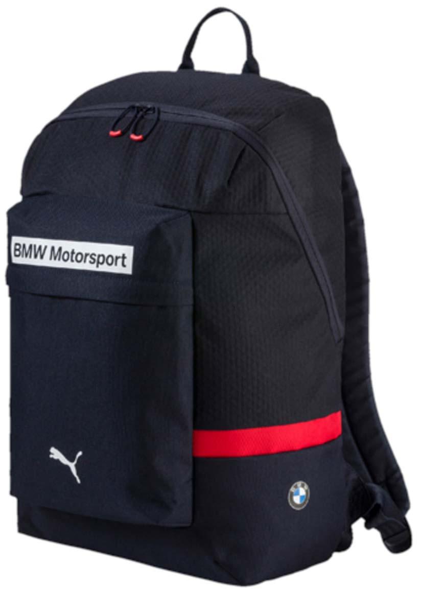 Рюкзак Puma Bmw Motorsport Backpack, цвет: синий. 07448602S76245Рюкзак Pumaвыполнен из текстиля. Модель с одним отделением, спереди имеется карман на молнии. Рюкзак оснащен регулируемыми по длине плечевыми лямками и петлей для подвешивания.