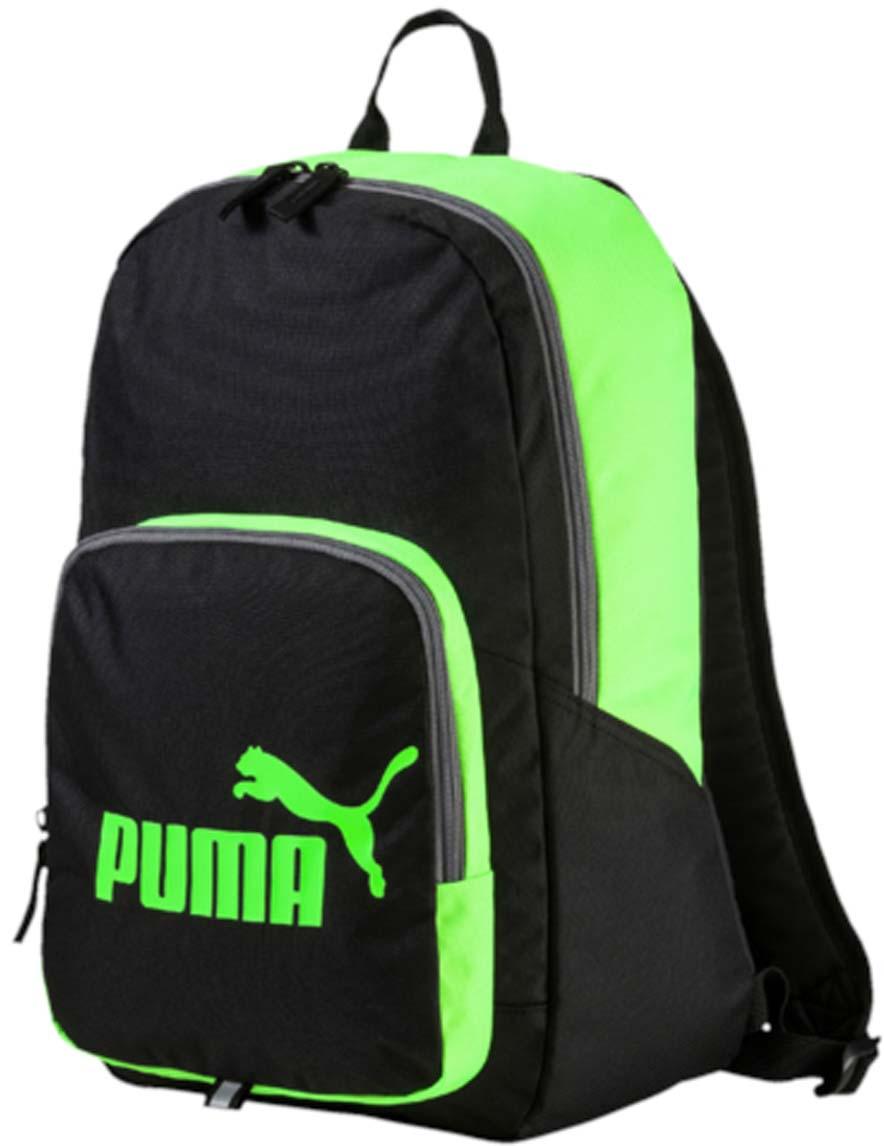 Рюкзак Puma Phase Backpack, цвет: черный. 0735891823008Рюкзак Puma выполнен из текстиля. Модель с одним отделением. Передняя стенка оформлена объемным карманом на молнии. Рюкзак оснащен регулируемыми по длине плечевыми лямками и петлей для подвешивания.