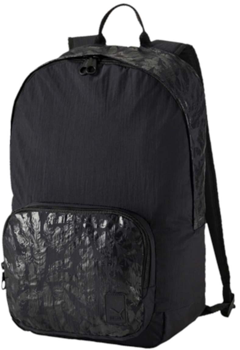 Рюкзак женский Puma Prime Backpack, цвет: черный. 074616052582-1белыеРюкзак Pumaвыполнен из текстиля. Модель с одним отделением, спереди имеется карман на молнии. Рюкзак оснащен регулируемыми по длине плечевыми лямками и петлей для подвешивания.