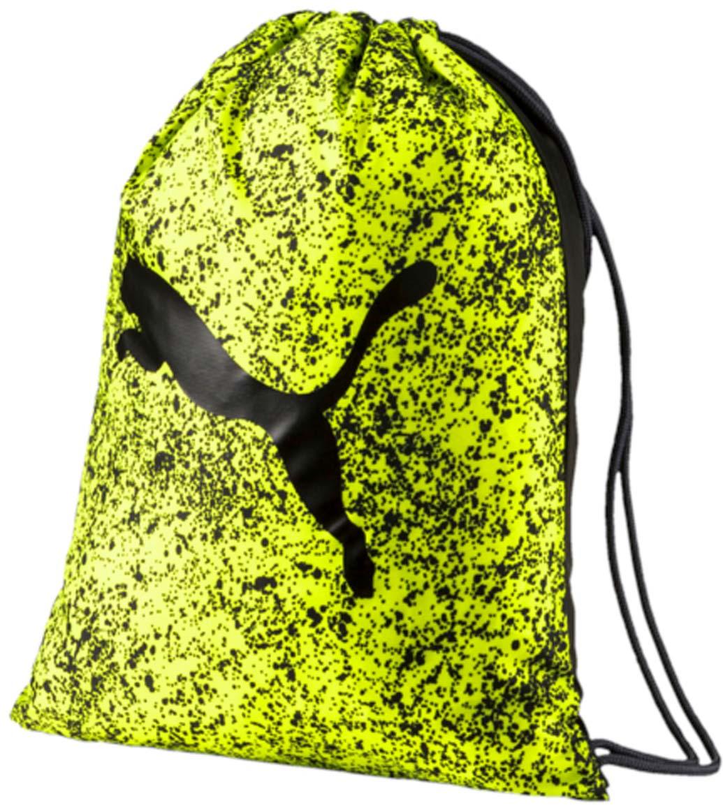 Рюкзак Puma Alpha Gym Sack, цвет: желтый. 0744070423008Спортивный рюкзак Puma выполнен из текстиля. Модель с одним отделением на затягивающемся шнурке и тонких лямках.