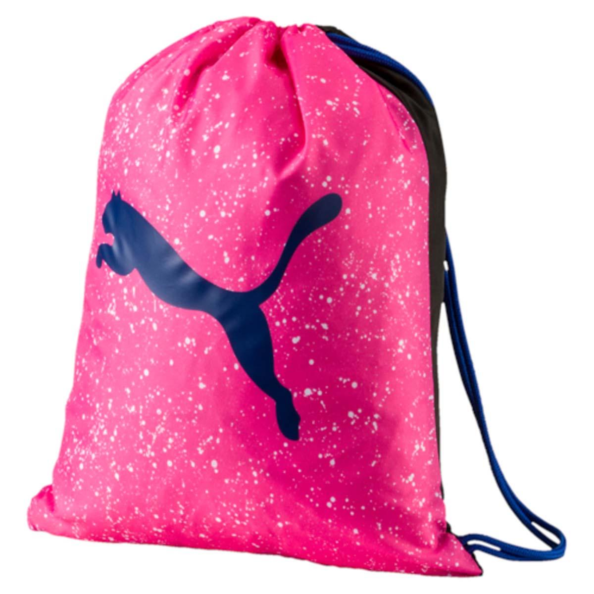 Рюкзак Puma Alpha Gym Sack, цвет: розовый. 074407023-47660-00504Спортивный рюкзак Puma выполнен из текстиля. Модель с одним отделением на затягивающемся шнурке и тонких лямках.