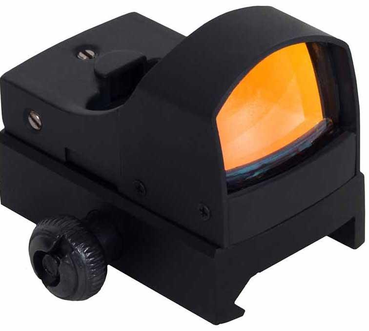 Прицел коллиматорный Sightmark Mini, панорамный на Weaver/Picatinny, 3МОАZ90 blackКоллиматор Sightmark Mini панорамный на Weawer/Picatinny, марка - точка 3МОА, подсветка красная. Арт. SM13001Компания Sightmark, США,Техас, Мэнсфилд впервые представила свою продукцию в 2007 году на SHOT Show. Основной целью компании является разработка и производство современной оптики и аксессуаров для охотников, спортсменов и стрелков. Кроме того, каждый продукт разработан для специализированного рынка, позволяя стрелкам получить больше высококачественных изделий для их огнестрельного оружия и пистолетов. Все коллиматорные прицелы Sightmark разработаны для ружей, винтовок и пистолетов.Компактный коллиматорный прицел Sightmark SM13001 устанавливается на планку типа Weawer/Picatinny. Все компоненты коллиматорного прицела, подверженные механическому воздействию, выполнены из нержавеющей стали и анодированных алюминиевых сплавов. Регулировка яркости прицельной марки осуществляется вручную, на корпусе расположен трехпозиционный переключатель, одно положение которого выключает питание прицела, а два других изменяют яркость свечения прицельной марки.Для фиксирования регулировочного механизма прицела после пристрелки, в коллиматорном прицеле Sightmark SM13001 предусмотрены два контровочных винта. Соответственно, перед пристрелкой, их необходимо ослабить.Миниатюрные размеры позволяют использовать данный коллиматор с пистолетами и ружьями для стрельбы по мишеням (спортинг) или для охоты по движущимся целям. Прицел обеспечивает возможность вести огонь в условиях естественной освещенности: от сумерек до яркого солнечного дня.Тип: панорамныйУвеличение (х): 1Прицельная марка: точка 3МОАПодсветкаприцельной марки: красная, 2 уровняРазмер линзы: 23х16 ммДлина прицела: 50 ммМатериал: высокопрочный авиационный алюминиевый сплавТип батареи: CR2032 3VКрепление: на Weaver/PicatinnyСовместимость с приборами ночного видения: нетВес с низким кронштейном: 60 гВес с упаковкой: 200 гРазмер упаковки (ДхШхВ): 13