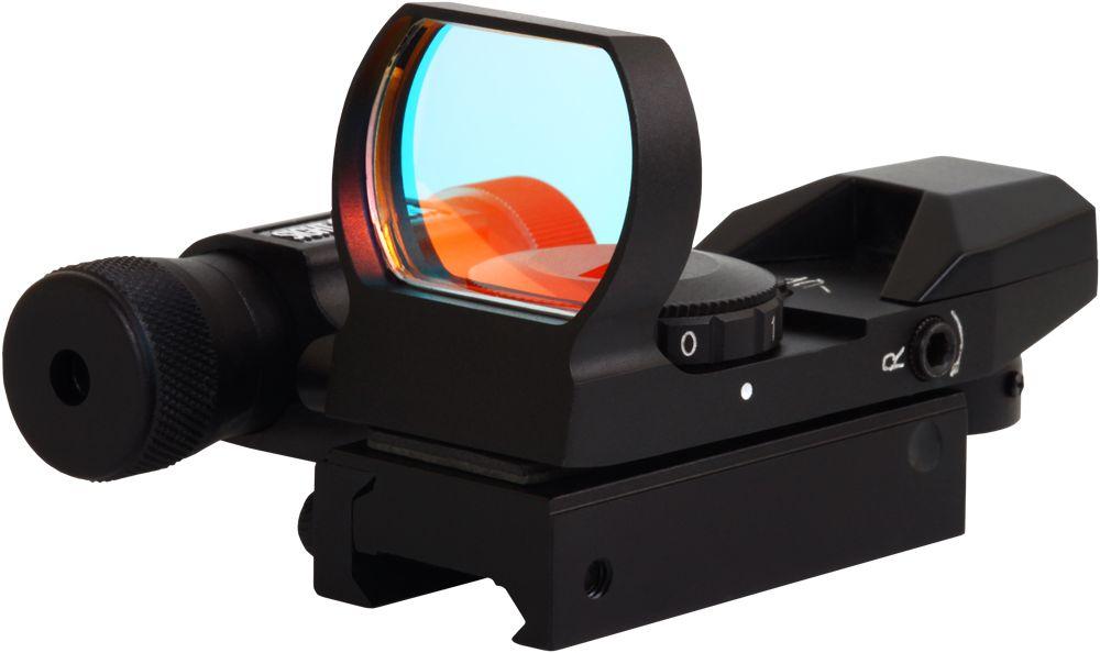 Прицел коллиматорный Sightmark, панорамный с ЛЦУ на планку 11 мм, со сменной маркой527Коллиматор Sightmark панорамный с ЛЦУ на планку 11 мм, марка - сменная 4 вида, подсветка красная. Арт. SM13002-DTКомпания Sightmark, США,Техас, Мэнсфилд впервые представила свою продукцию в 2007 году на SHOT Show. Основной целью компании является разработка и производство современной оптики и аксессуаров для охотников, спортсменов и стрелков. Кроме того, каждый продукт разработан для специализированного рынка, позволяя стрелкам получить больше высококачественных изделий для их огнестрельного оружия и пистолетов. Все коллиматорные прицелы Sightmark разработаны для ружей, винтовок и пистолетов.Коллиматорный прицел SM13002-DT интегрирован с лазерным целеуказателем. ЛЦУ крепится к коллиматору двумя винтами. Регулировка яркости прицельной марки выполняется восьмиступенчатым переключателем, который совмещен с батарейным отсеком. Устанавливается коллиматор на планку 11 мм. - ласточкин хвост.Имеет 4 типа прицельной марки, 7 режимов яркости прицельной марки. Линза объектива закрывается мягкой резиновой крышкой, которая защищает от загрязнений и механических повреждений.Противоударный и защищенный от непогоды. Все компоненты коллиматорного прицела, подверженные механическому воздействию, выполнены из нержавеющей стали и анодированных алюминиевых сплавов. Миниатюрные размеры делают его идеально подходящим для использования с пистолетами и ружьями, которые могут использоваться для стрельбы по мишеням (спортинг) или охоты по движущимся целям. Идеально подходит для стрельбы на вскидку и по быстро движущимся целям. Тип: панорамныйУвеличение (х): 1Прицельная марка: сменная, 4 видаПодсветкаприцельной марки: красная, 7 режима яркостиРазмер линзы: 33х24 ммДлина прицела: 82 ммМатериал: высокопрочный авиационный алюминиевый сплавТип батареи: CR2032 3VКрепление: на планку 11 ммСовместимость с приборами ночного видения: нетВес с кронштейном и ЛЦУ: 155 гВес с упаковкой: 240 гРазмер упаковки (ДхШхВ): 11,5х