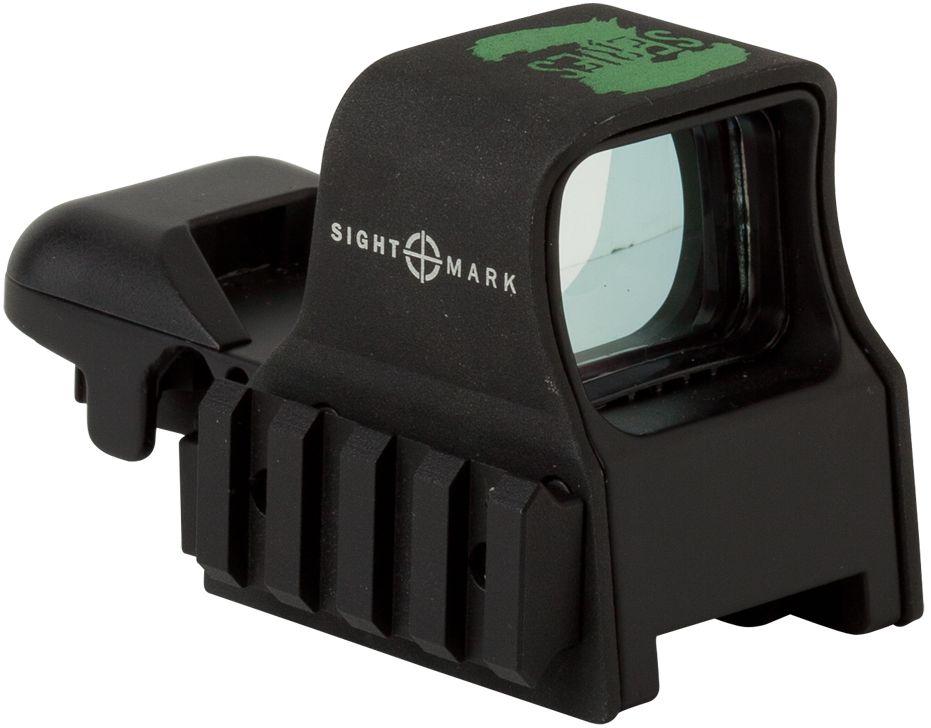 Прицел коллиматорный Sightmark, панорамный на Weaver/Picatinny, со сменной маркой. SM13005Z527Коллиматор Sightmark панорамный на Weaver/Picatinny, марка - сменная 4 вида, подсветка зеленая.Арт. SM13005ZКомпания Sightmark, США,Техас, Мэнсфилд впервые представила свою продукцию в 2007 году на SHOT Show. Основной целью компании является разработка и производство современной оптики и аксессуаров для охотников, спортсменов и стрелков. Кроме того, каждый продукт разработан для специализированного рынка, позволяя стрелкам получить больше высококачественных изделий для их огнестрельного оружия и пистолетов. Все коллиматорные прицелы Sightmark разработаны для ружей, винтовок и пистолетов.Отличительной чертой коллиматорных прицелов серии Z, является ЗЕЛЕНАЯ подсветка прицельных марок и дополнительная планка Weaver/Picatinny сбоку. Боковая планка Weaver/Picatinny длиной 45 мм и 4-мя слотами позволяет монтировать на нее различные дополнительные аксессуары, такие как ЛЦУ или фонарь. SM13005Z – это открытый панорамный коллиматор с интегрированным быстросъемным креплением на Weaver/Picatinny, которое имеет внутреннюю запирающую систему – Interlok. Рычаг позволяет быстро и надежно устанавливать прицел на оружии. Прицел позволяет, в зависимости от вида охоты, применять одну из четырех прицельных марок зеленого цвета. Яркость прицельной марки регулируется шестиступенчатым барабанчиком, который совмещен с батарейным отсеком.Все компоненты коллиматорного прицела, подверженные механическому воздействию, выполнены из нержавеющей стали и анодированных алюминиевых сплавов. Небольшиеразмеры делают его идеально подходящим для использования с пистолетами и ружьями, которые могут использоваться для домашней защиты(пистолеты), стрельбы по мишеням(спортинг) или охоты на коротких и на больших расстояниях по движущимся целям. Противоударный и защищенный от непогоды. Описание прицельных марок:1. Crosshair: точка – 3 МОА и круг – 50 МОА2. ТОЧКА: 5 МОА3. КРЕСТ С ТОЧКОЙ: точка – 3 МОА и крест4. КРУГ С