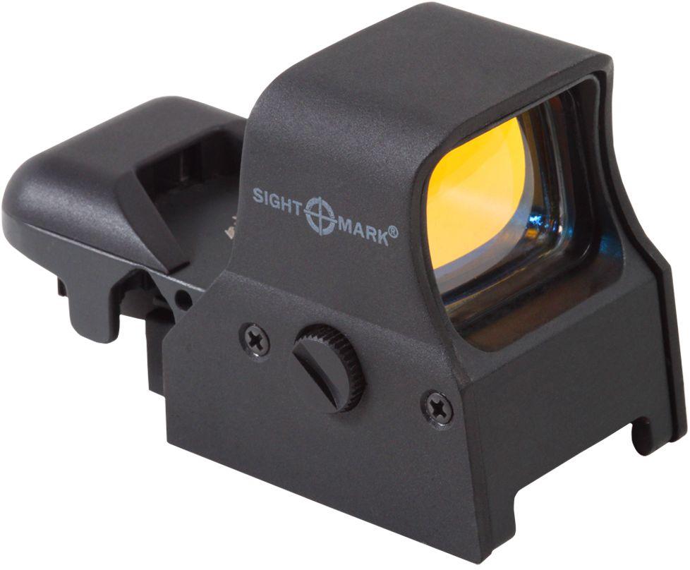 Прицел коллиматорный Sightmark, панорамный на Weaver, со сменной маркой, 5 режимов527Коллиматор Sightmark панорамный на Weaver, марка - сменная 4 вида, подсветка красная. Арт. SM14000Компания Sightmark, США,Техас, Мэнсфилд впервые представила свою продукцию в 2007 году на SHOT Show. Основной целью компании является разработка и производство современной оптики и аксессуаров для охотников, спортсменов и стрелков. Кроме того, каждый продукт разработан для специализированного рынка, позволяя стрелкам получить больше высококачественных изделий для их огнестрельного оружия и пистолетов. Все коллиматорные прицелы Sightmark разработаны для ружей, винтовок и пистолетов.Коллиматорный прицел Sightmark SM14000 имеет интегрированное быстросъемное крепление на планку Weaver, позволяющее стрелку эффективно и быстро установить его на свое огнестрельное оружие. Прицел позволяет, в зависимости от вида охоты, применять одну из четырех прицельных марок красного цвета. Яркость прицельной марки регулируется резиновой кнопкой. При нажатии на кнопку, прицельная марка меняет интенсивность свечения. При нажатии на кнопку более 2-х секунд, прибор выключается. Коллиматор имеет 4 вида прицельной марки и 5 режимов яркости.Описание прицельных марок:1. Crosshair: точка – 3 МОА и круг – 50 МОА2. ТОЧКА: 5 МОА3. КРЕСТ С ТОЧКОЙ: точка – 3 МОА и крест 4. КРУГ С ТОЧКОЙ: точка – 3 МОА и круг 50 МОАПротивоударный и защищенный от непогоды. Все компоненты коллиматорного прицела, подверженные механическому воздействию, выполнены из нержавеющей стали и анодированных алюминиевых сплавов.Тип: панорамныйУвеличение (х): 1Прицельная марка: сменная, 4 видаПодсветка прицельной марки: красная, 5 режима яркостиРазмер линзы: 33х24 ммДлина прицела: 94 ммМатериал: высокопрочный авиационный алюминиевый сплавТип батареи: AG5Крепление: быстросъемное на Weaver/PicatinnyСовместимость с приборами ночного видения: нетВес с кронштейном: 205 гВес с упаковкой: 300 гРазмер упаковки (ДхШхВ): 11,5х7х7 смГарантия: 1 годКомплектация:- 
