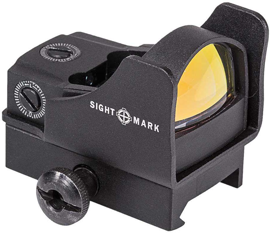 Прицел коллиматорный Sightmark Mini, панорамный на Weaver/Picatinny, 5МОА527Коллиматор Sightmark Mini, панорамный на Weaver/Picatinny, марка - точка 5МОА, подсветка красная. Арт. SM26006Компания Sightmark, США,Техас, Мэнсфилд впервые представила свою продукцию в 2007 году на SHOT Show. Основной целью компании является разработка и производство современной оптики и аксессуаров для охотников, спортсменов и стрелков. Кроме того, каждый продукт разработан для специализированного рынка, позволяя стрелкам получить больше высококачественных изделий для их огнестрельного оружия и пистолетов. Все коллиматорные прицелы Sightmark разработаны для ружей, винтовок и пистолетов.Компактный коллиматорный прицел Sightmark SM26006 оснащен двумя кронштейнами, высоким и низким, для установки на планку типа Weawer/Picatinny.Все компоненты коллиматорного прицела, подверженные механическому воздействию, выполнены из нержавеющей стали и анодированных алюминиевых сплавов. Регулировка яркости прицельной марки осуществляется вручную, сбоку на корпусе прицела расположена кнопка Вкл/Выкл/Яркость. Миниатюрные размеры позволяют использовать данный коллиматор с пистолетами и ружьями для стрельбы по мишеням (спортинг) или для охоты по движущимся целям. Прицел обеспечивает возможность вести огонь в условиях естественной освещенности: от сумерек до яркого солнечного дня.Тип: панорамныйУвеличение (х): 1Прицельная марка: точка 5МОАПодсветка прицельной марки: красная, 5 уровнейРазмер линзы: 23х16 ммДлина прицела: 48 ммМатериал: высокопрочный авиационный алюминиевый сплавТип батареи: CR1620 3VКрепление: на Weaver/Picatinny, 2 шт. в комплекте – высокая и низкая посадкаСовместимость с приборами ночного видения: нетВес с низким кронштейном: 90 гВес с высоким кронштейном: 120 гВес с упаковкой: 240 гРазмер упаковки (ДхШхВ): 13х9х5,5 смГарантия: 1 годКомплектация:- коллиматорный прицел- шестигранный ключ- отвертка- батарея CR1620 3V- салфетка для протирки оптики- защитный пластиковый колпачок - кронштейн Weaver