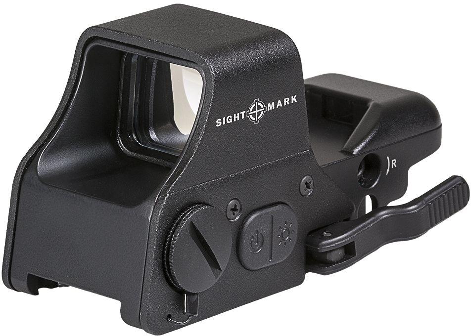Прицел коллиматорный Sightmark, панорамный на Weaver/Picatinny, со сменной маркой. SM26008SM26008Коллиматор Sightmark панорамный на Weaver/Picatinny, марка - сменная 4 вида, подсветка красная/зеленая. Арт. SM26008Компания Sightmark, США,Техас, Мэнсфилд впервые представила свою продукцию в 2007 году на SHOT Show. Основной целью компании является разработка и производство современной оптики и аксессуаров для охотников, спортсменов и стрелков. Кроме того, каждый продукт разработан для специализированного рынка, позволяя стрелкам получить больше высококачественных изделий для их огнестрельного оружия и пистолетов. Все коллиматорные прицелы Sightmark разработаны для ружей, винтовок и пистолетов.Данная модель коллиматора Sightmark Ultra Shot Plus Reflex Sight адаптирована для использования при стрельбе в любых условиях освещенности окружающей среды. Это открытый панорамный коллиматор с интегрированным быстросъемным креплением на Weaver/Picatinny, которое имеет внутреннюю запирающую систему - Interlok.Данная модель имеет кнопку цифрового перехода для выбора цвета подсветки прицельной марки и степени ее яркости.Имеется 4 типа прицельных марок, 5 уровней яркости и подсветка красная/зеленая.Описание прицельных марок:1. Crosshair: точка – 3 МОА и круг – 50 МОА2. ТОЧКА: 5 МОА3. КРЕСТ С ТОЧКОЙ: точка – 3 МОА и крест4. КРУГ С ТОЧКОЙ: точка – 3 МОА и круг 50 МОАСтепень защиты - IPX4, водостойкий (защищенный от непогоды)Тип: панорамныйУвеличение (х): 1Прицельная марка: сменная, 4 видаПодсветкаприцельной марки: красная/зеленаяРазмер линзы: 33х24 ммДлина прицела: 113 ммМатериал: высокопрочный авиационный алюминиевый сплавТип батареи: CR123АКрепление: быстросъемное на Weaver/PicatinnyСовместимость с приборами ночного видения: нетВес с кронштейном: 265 гВес с упаковкой: 365 гРазмер упаковки (ДхШхВ): 12,5х7х7 смГарантия: 1 годКомплектация:- коллиматорный прицел- шестигранный ключ- рожковый гаечный ключ для окончательной установки прицела на оружие- батарея CR123А- салфетка для протирки 