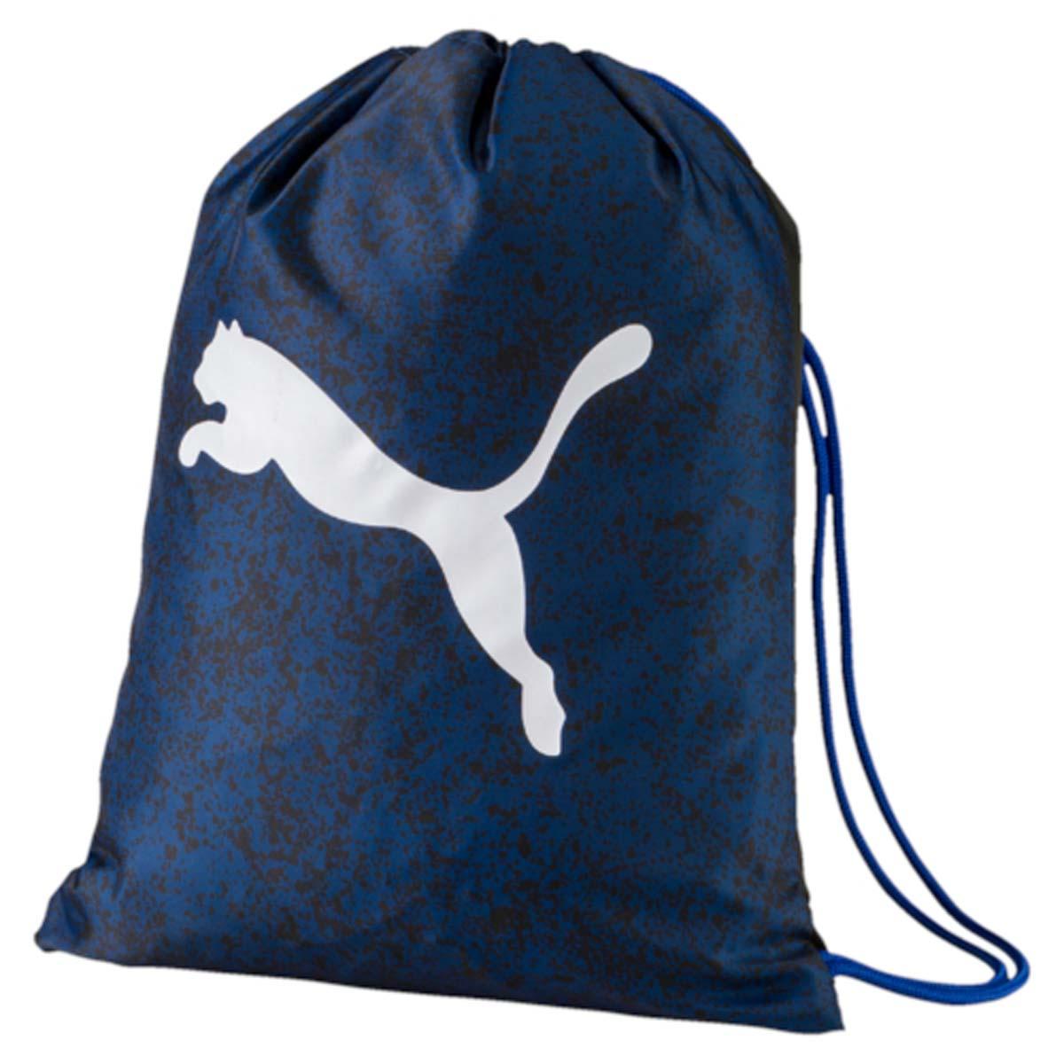 Рюкзак Puma Alpha Gym Sack, цвет: синий. 07440703BM8434-58AEСпортивный рюкзак Puma выполнен из текстиля. Модель с одним отделением на затягивающемся шнурке и тонких лямках.