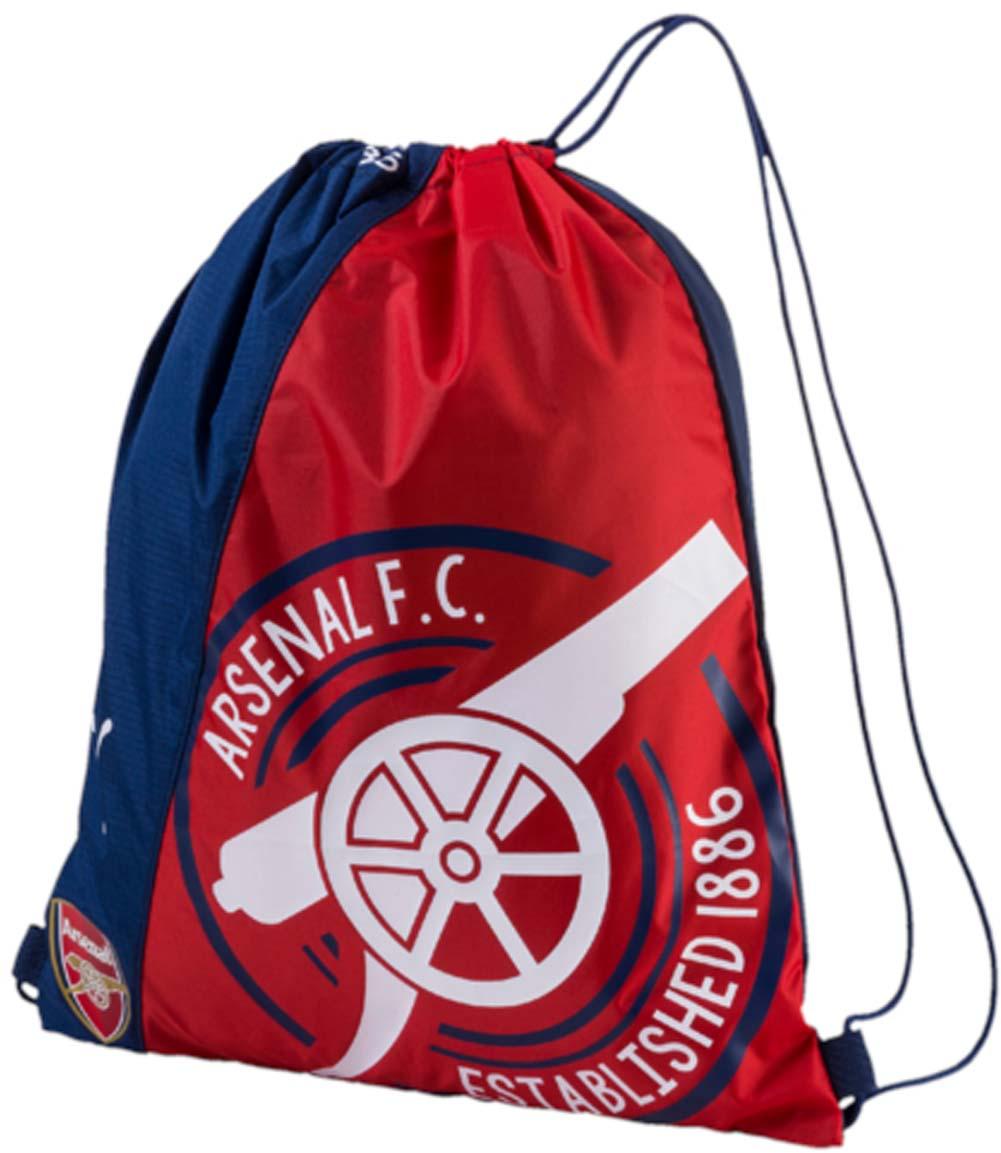 Рюкзак Puma Arsenal Fanwear Gym Sack, цвет: синий, красный. 07462101ML597BUL/DСпортивный рюкзак Puma выполнен из текстиля. Модель с одним отделением на затягивающемся шнурке и тонких лямках.