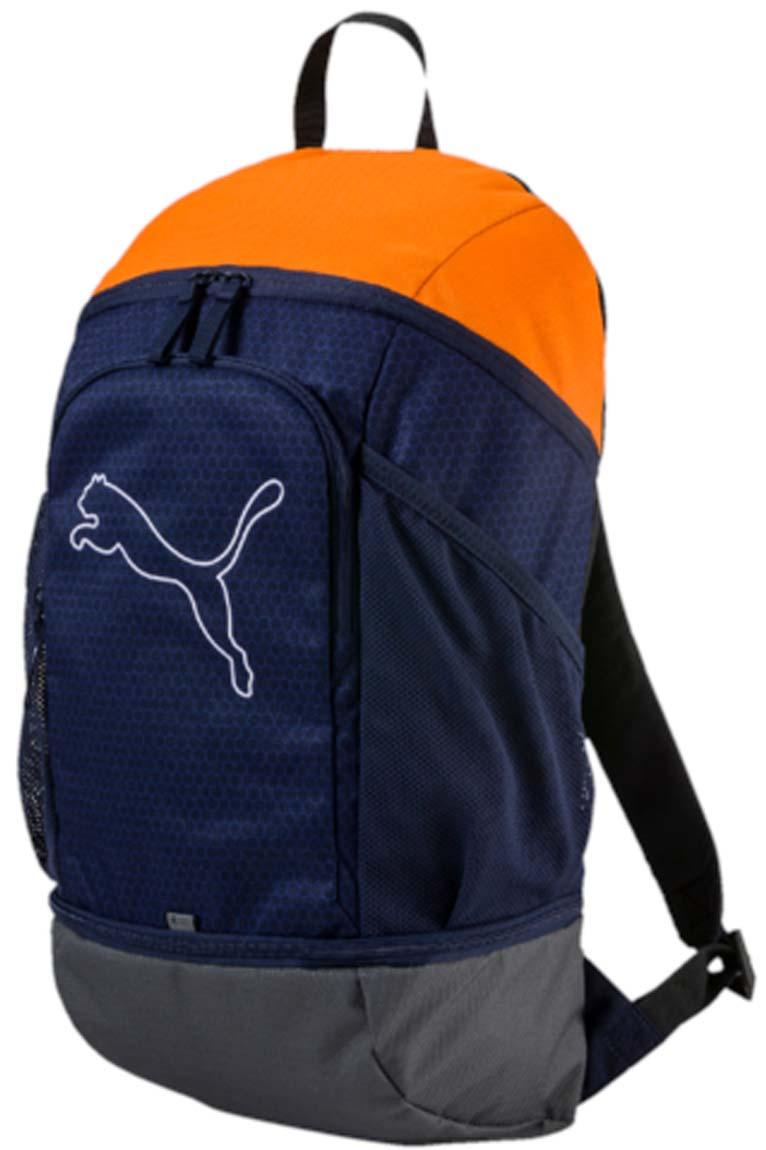 Рюкзак Puma Echo Backpack, цвет: синий. 07439604KV996OPY/MРюкзак Puma выполнен из текстиля. У модели одно основное отделение. Передний карман на молнии, боковые стороны дополнены сетчатыми карманами. Рюкзак с регулируемыми по длине плечевыми лямками и петлей для подвешивания.