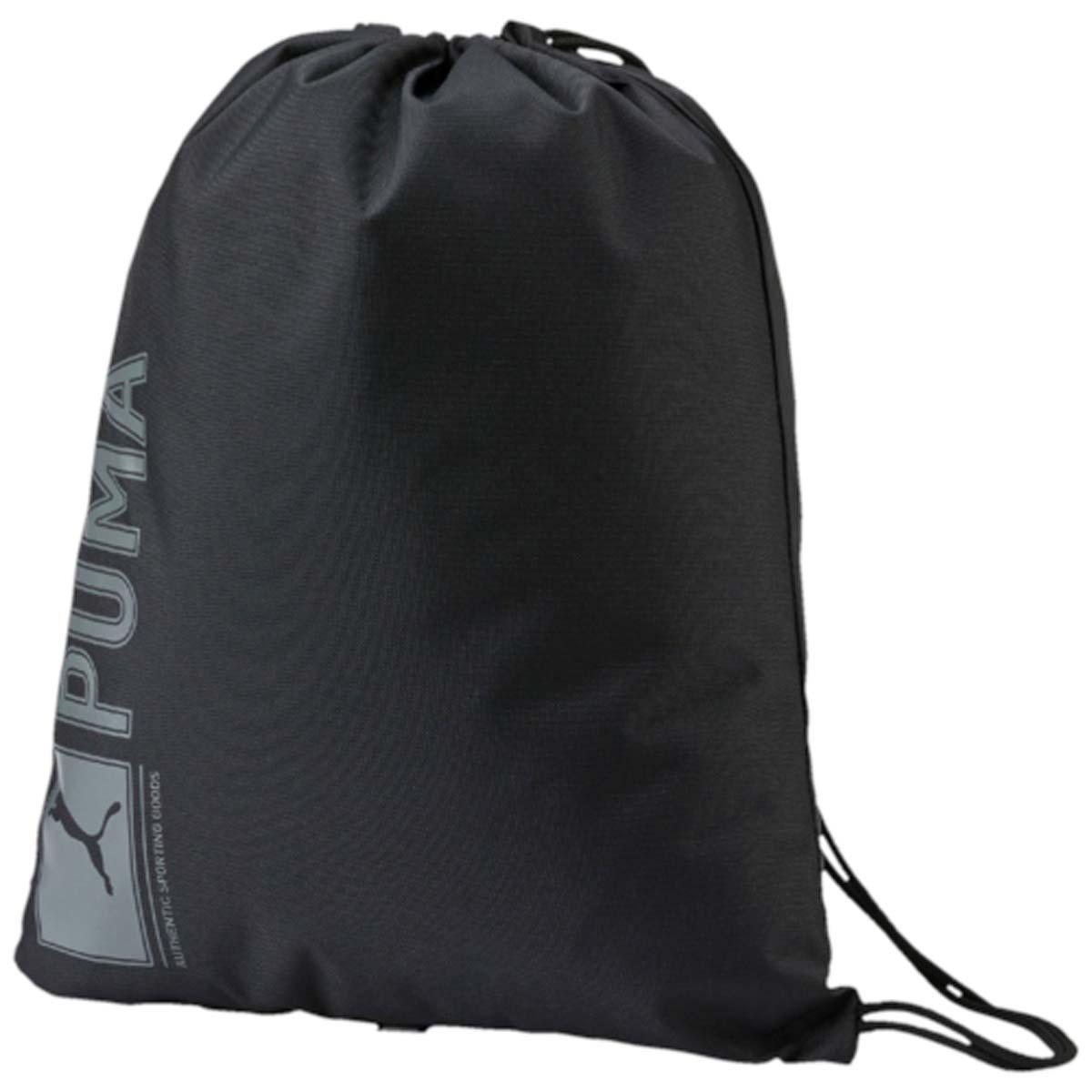 Рюкзак Puma Pioneer Gym Sack, цвет: черный. 07346801. 07346801S76245Спортивный рюкзак Puma выполнен из текстиля. Модель с одним отделением на затягивающемся шнурке и тонких лямках.