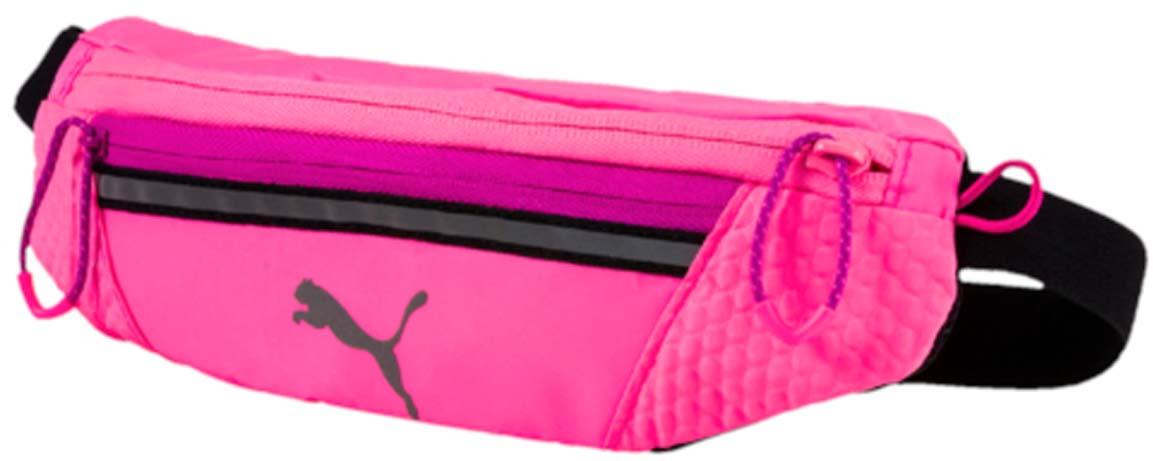 Сумка на пояс женская Puma Pr Classic Waist Bag, цвет: розовый. 074437033B327Спортивная сумка Puma Pr Classic Waist Bag выполнена из прочного текстиля. У модели одно отделение, застежка и внешний карман на молнии, один карман на липучке.