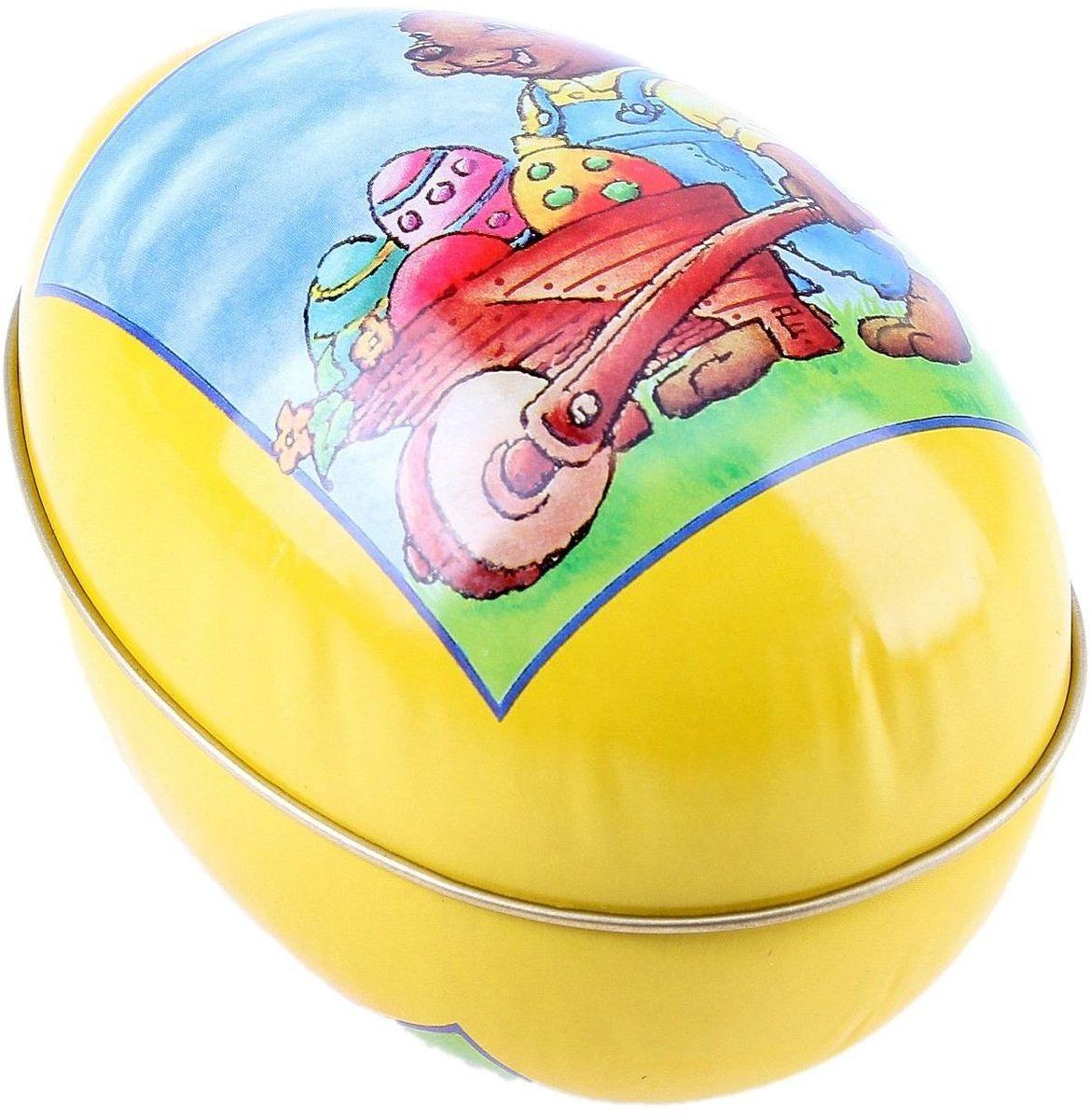 Шкатулка-яйцо Пасха. Зайчик с тележкой яиц, 12,2 х 8 см. 117631RG-D31SПасхальное яйцо — символ жизни и возрождения, ведь именно в Пасху традиционно дарят крашеные или расписные яйца. А в такую забавную шкатулочку можно положить одно из таких яиц и преподнести своему самому родному и близкому человеку, такой презент никогда не забудется, и будет отличаться от других поздравлений.