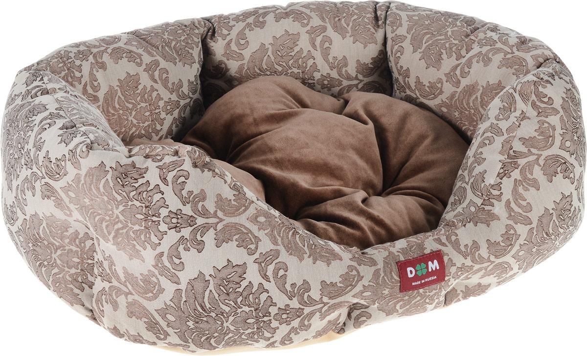 Лежак для животных Dogmoda Ампир, 58 x 52 x 22 смDM-160267-2Лежак для животных Dogmoda Ампир прекрасно подойдет для отдыха вашего домашнего питомца. Изделие выполнено из прочной ткани и снабжено высокими широкими бортиками и съемной мягкой подушкой. Наполнен лежак холлофайбером.Комфортный и уютный лежак обязательно понравится вашему питомцу, животное сможет там отдохнуть и выспаться.